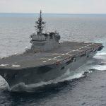 護衛艦いずもの兵器や戦闘力は?補給が主で魚雷や戦闘機は艦載してる?初の米艦護衛で横須賀を出向